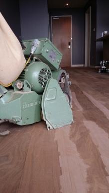 Hardwood floors sanded in Houston