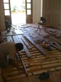 5 inch wulnut flooring installed