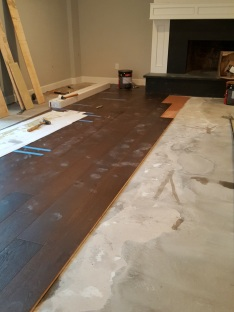 starting the wood floors.