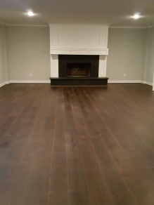 Finished of Wood floor installation.
