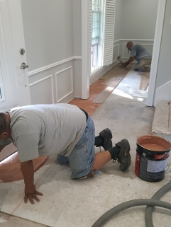 INSTALLATION OF PRE FINISHED HARDWOOD FLOORS IN HOUSTON