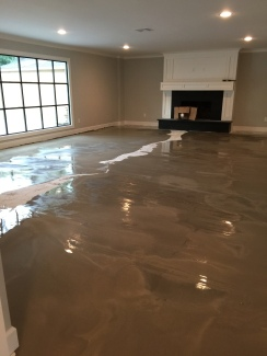Floor prep to level out concrete before installing wood flooring